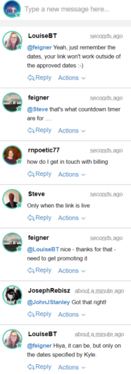 Wealthy Affiliate Chat 2