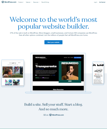 best website builder for bloggers: Network Solution